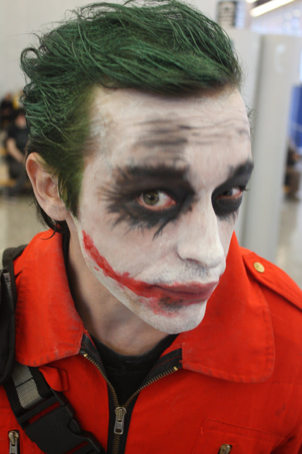 resting bitch face: Joker cosplay