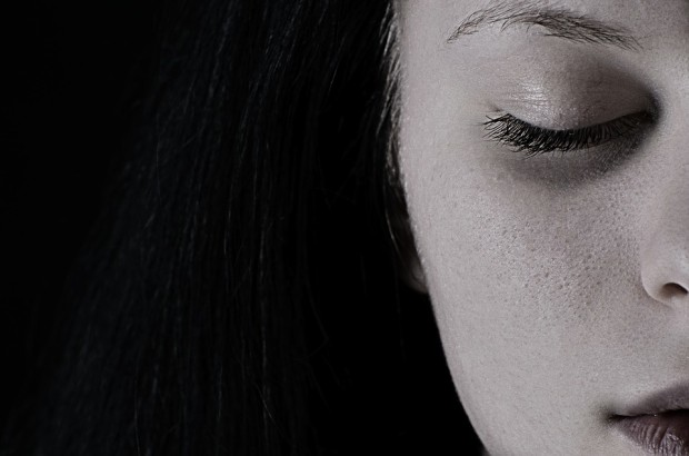 Ketamine for depression: woman's face