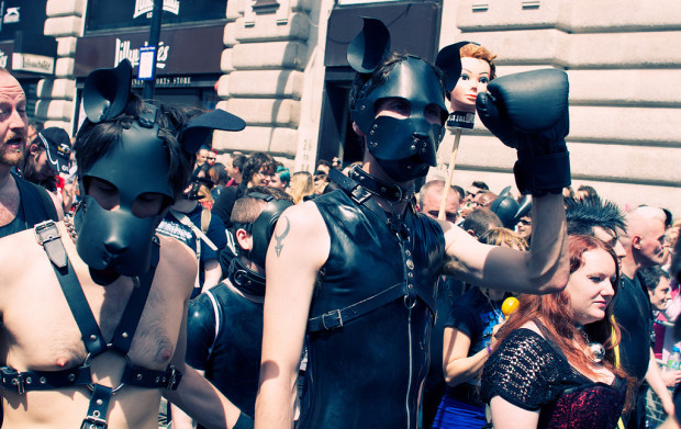 Valetine's day reality guys in rubber and leather