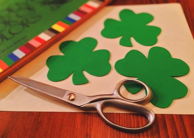 St. Patrick's Day, green shamrocks