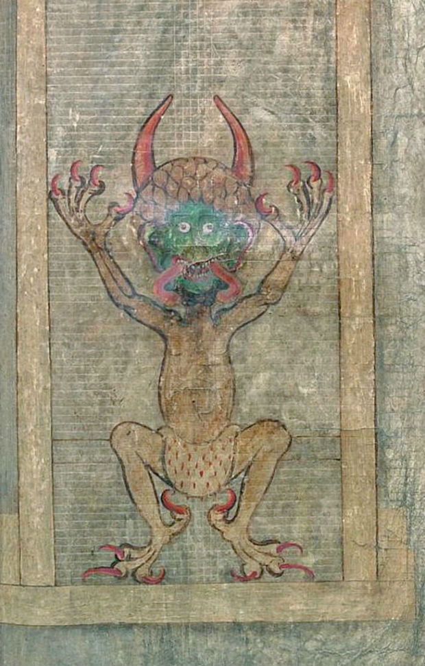 Image of the devil in the Codex Gigas