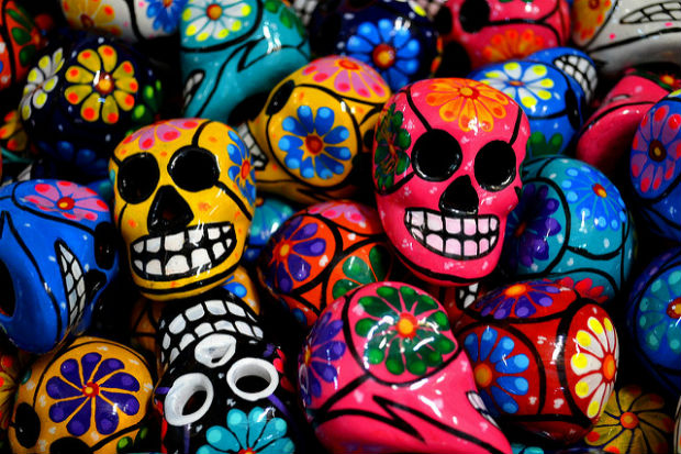 Photo of painted skulls