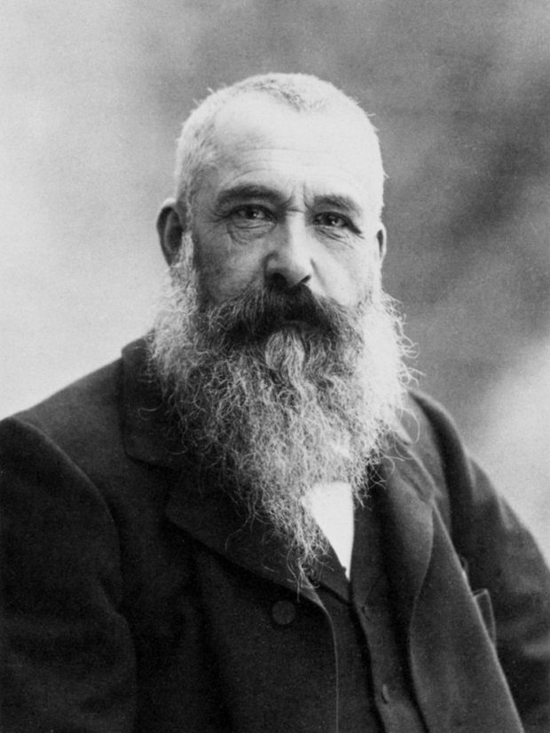 Taken by cancer: Claude Monet