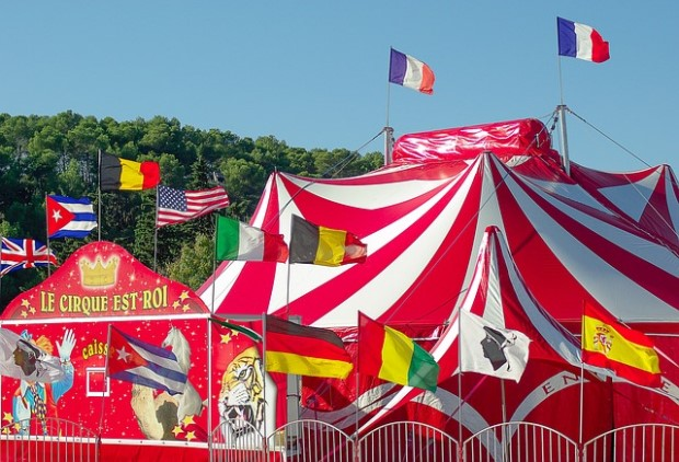 Photo of circus tents