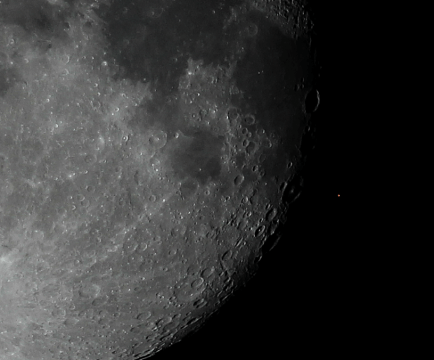 Photo of moon occulting Aldeberan