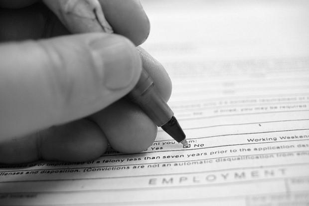fake white names Photo of job application