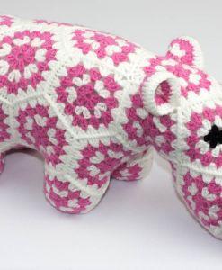 Hippopotame (happypotamus) rose | Fait main Artigina