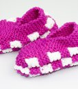 Pantoufles en Phentex pour enfant rose (paire) | Fait main Artigina
