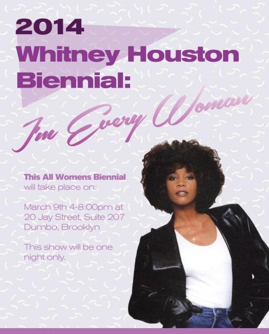 Whitney Houston Biennial evite