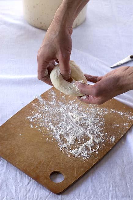 Shape a bagel
