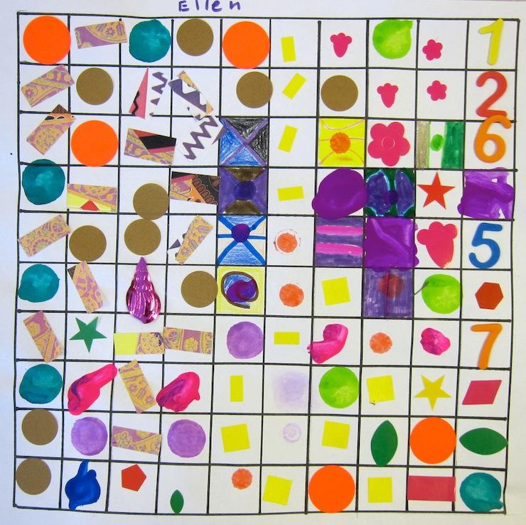 100th Day of School Art Project:  Kindergarten