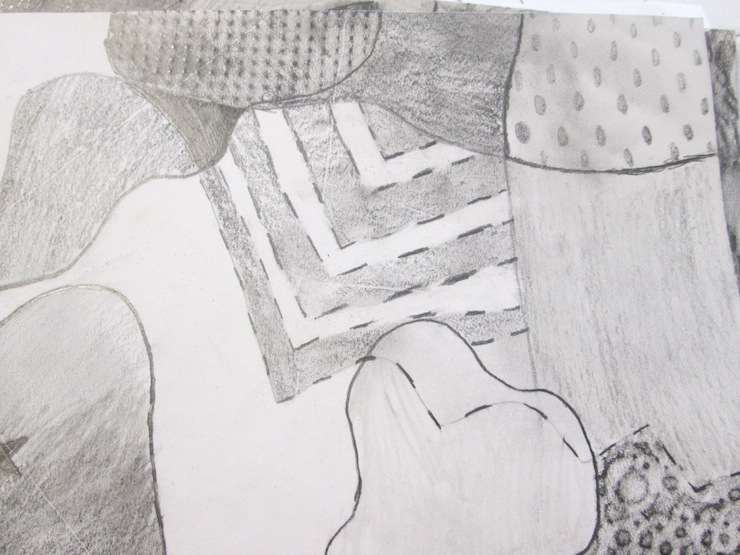 texture rubbing plates with pencil