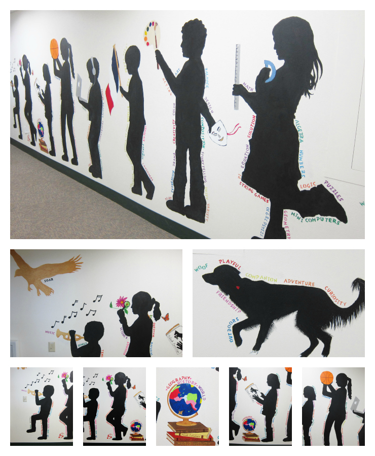Our silhouette mural is finished for Mural collage