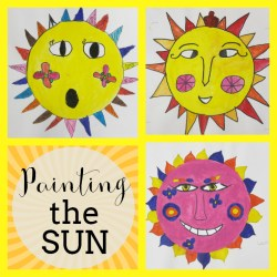 Sun Paintings with 3rd Graders