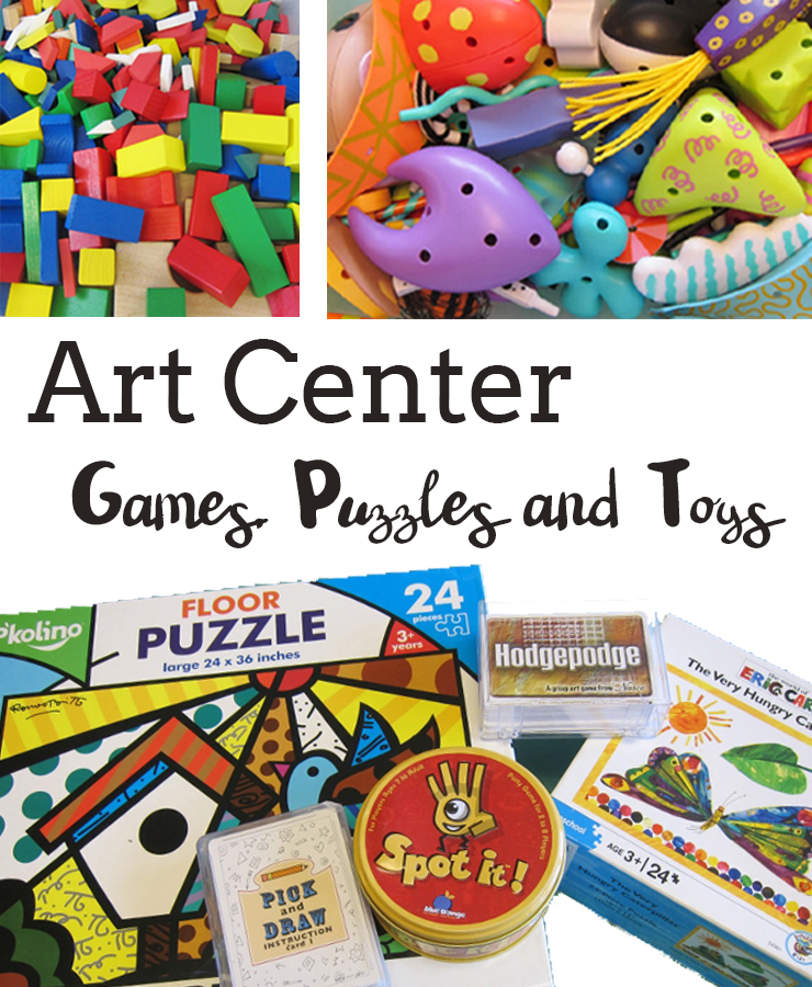 Classroom Enrichment Ideas ~ Art games and puzzles for an enrichment center