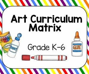 Art Curriculum Matrix