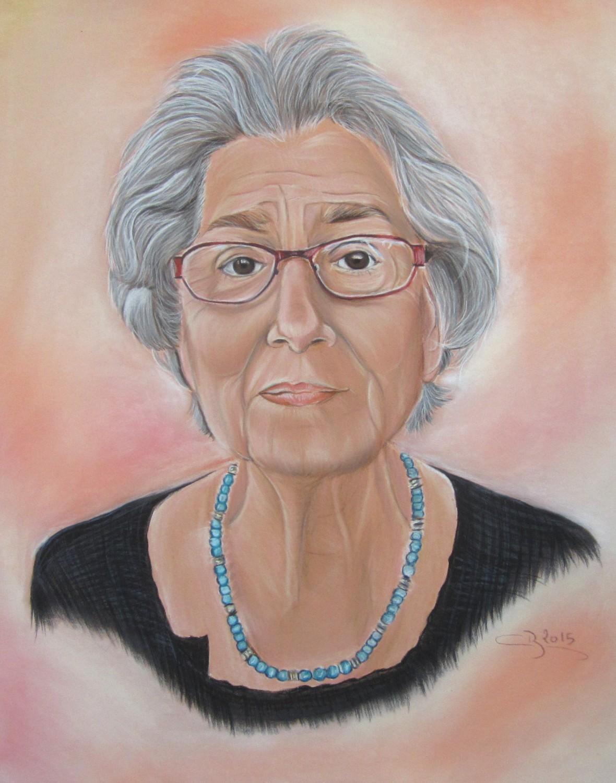 Les couleurs de la peau aux pastels secs for Tableau portrait noir et blanc