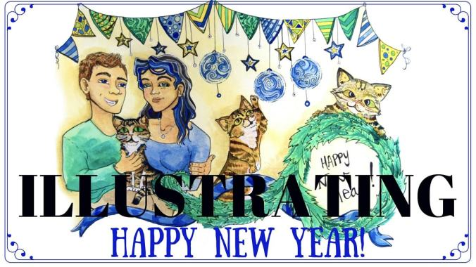 Illustrating Happy New Year Header