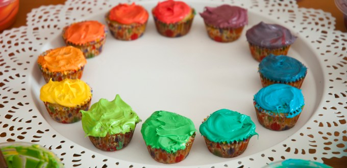 Color Wheel Cupcakes Art You Can Eat Yummy