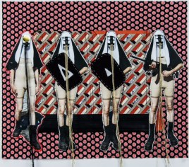 Elektra KB, 'Status Quo,' 2013, photo collage on fabric. Bravin Lee, UNTITLED. Miami.