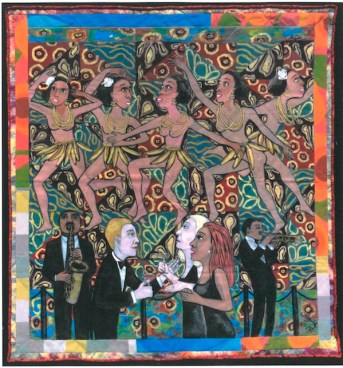 Faith Ringgold, The American Collection #4: Jo Baker's Bananas