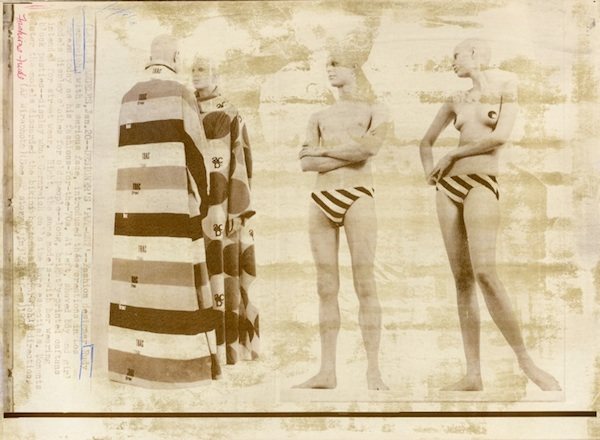 Vintage photo advertisements for designs by Rudi Gernreich. COURTESY THE ARTIST.