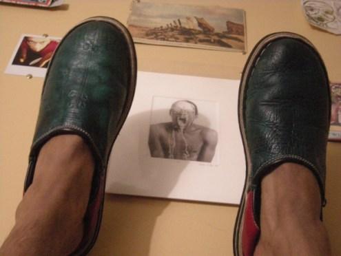 not resting my heels…