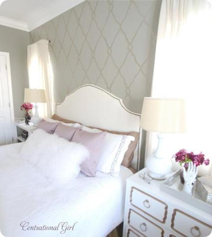DIY Projects To Make Your Rental Home Look More Expensive-stencil wall