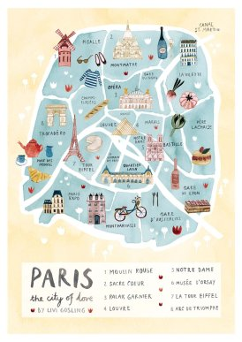 Paris Map - Exaggerate the most important things