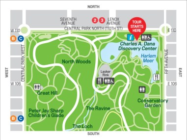 Central Park Map - Readability, Ease of Use