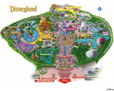 Disneyland General Map - Color and Simpiification