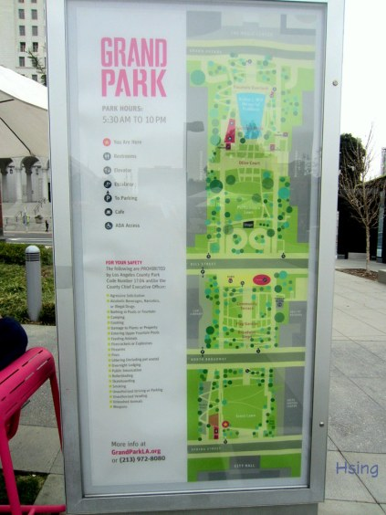 Grand Park On-Site Map - notice the hierarchy and use of color - STYLE!