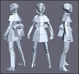 low poly figure