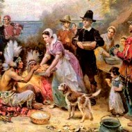 According to the Library of Congress this is a primary source and a true depiction of Thanksgiving.