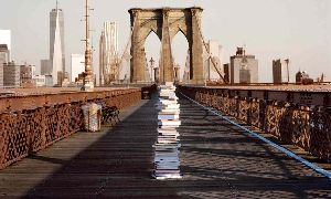 A Guy Stacked His Books All Over Manhattan To See Who Would Take Them