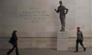 A Statue Of George Orwell, Rejected At First For His Politics, To Grace BBC Smoking Area