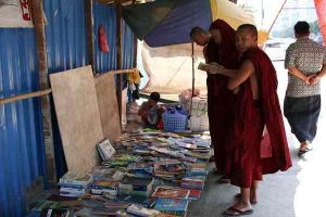 Myanmar's Famous Street Of Second-Hand Books