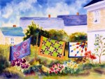 Monhegan Quilts 22x30 watercolor 140-RKK
