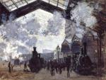 """The Gare St-Lazare"", oil painting, 1877, by Claude Monet."