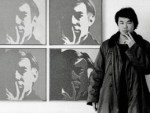 Ai Weiwei, At the Museum of Modern Art, 1987 (detail), from the New York Photographs series 1983–93, Collection of Ai Weiwei, © Ai Weiwei; Andy Warhol artwork © The Andy Warhol Foundation for the Visual Arts, Inc.