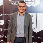 Arturo Paniagua en el photocall de los Vicious Music Awards