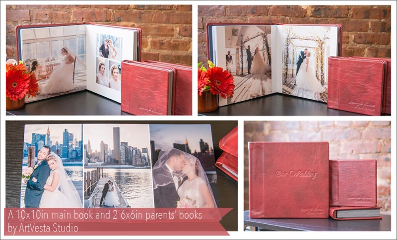 Genuine leather wedding album by Artvesta Studio