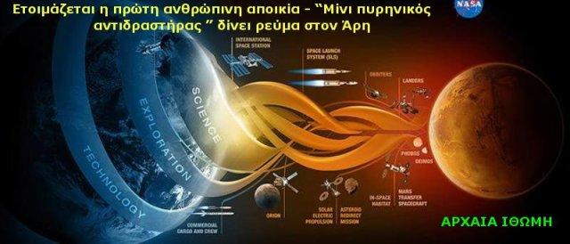 """Ετοιμάζεται η πρώτη ανθρώπινη αποικία - """"Μίνι πυρηνικός αντιδραστήρας """" δίνει ρεύμα στον Άρη Α"""