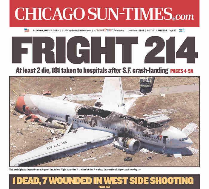 Sun Times Headline