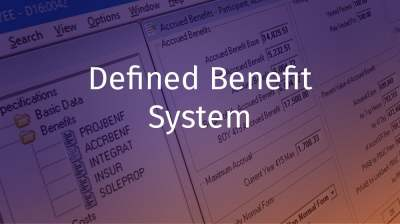 Defined Benefit Software for the Retirement Plan Administators