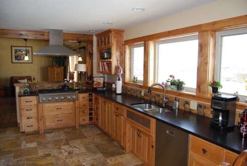 Ascent Home Builders Bozeman MT Rustic Kitchen Remodel