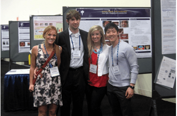 Last year's APEX winners at the AACD scientific session in Washington D.C. From left: Laura Tulga (South Carolina), Alec Zurek (Illinois), Dr. Kallie Law (Alabama), and Dr. Michael Cheng (Illinois).