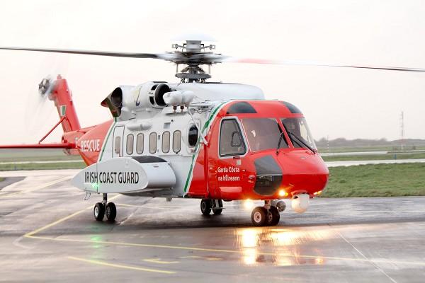 Helicóptero Irish Coast Guard Sikorsky