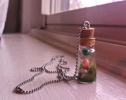 fairy garden necklace bottle