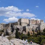 View of the Acropolis from Areopagus Athens